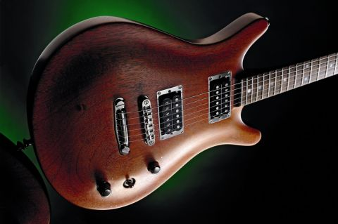 A superbly crafted electric guitar.