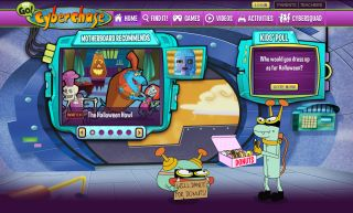 A screen shot from the Cyberchase website Homepage.
