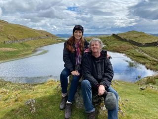 Paul Merton and his wife Suki Webster enjoy the wonderful scenery of the Lake District.