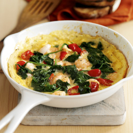 Taste test-woman and home-King Prawn Omelette recipe