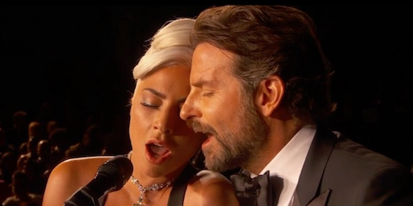 Gaga and Cooper during the performance