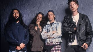 A shot of Soundgarden in 1992