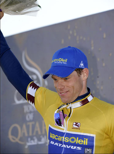 Wouter Mol leads the race, Tour of Qatar 2010, stage 2