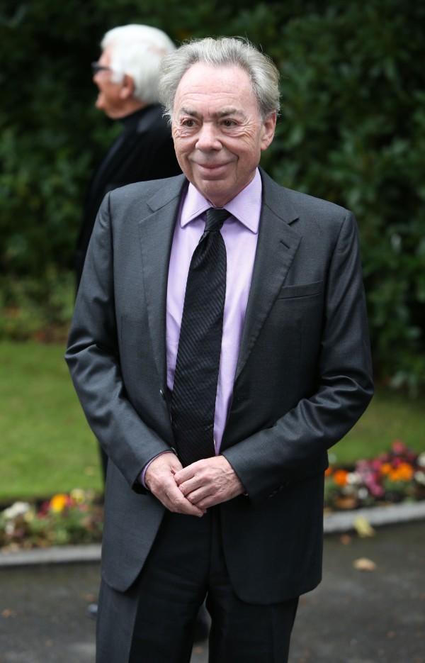 Andrew LLoyd Webber at Cilla Black funeral