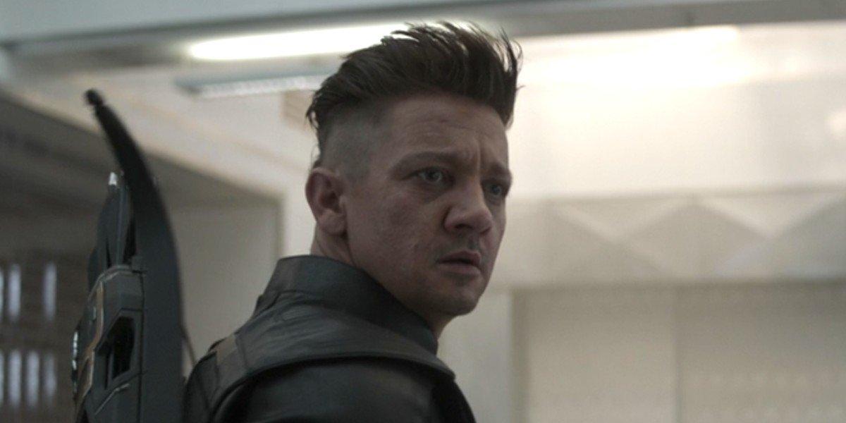 Jeremy Renner as Clint Barton/Hawkeye in Avengers: Endgame.