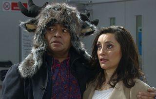 Rishi and Manpreet return but dread telling Jai their news in Emmerdale