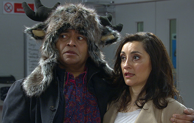 Rishi and Manpreet return but dread telling Jai their news in Emmerdale