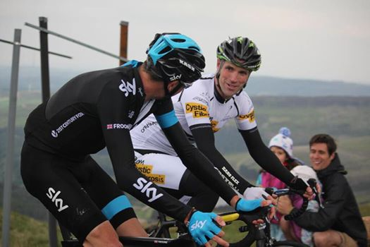 Chris Froome and Alex Jones, Holme Moss