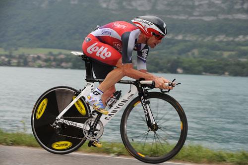 Cadel Evans, Tour de France 2009, stage 18 TT