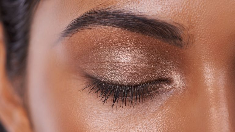 eyeshadow on eye close up
