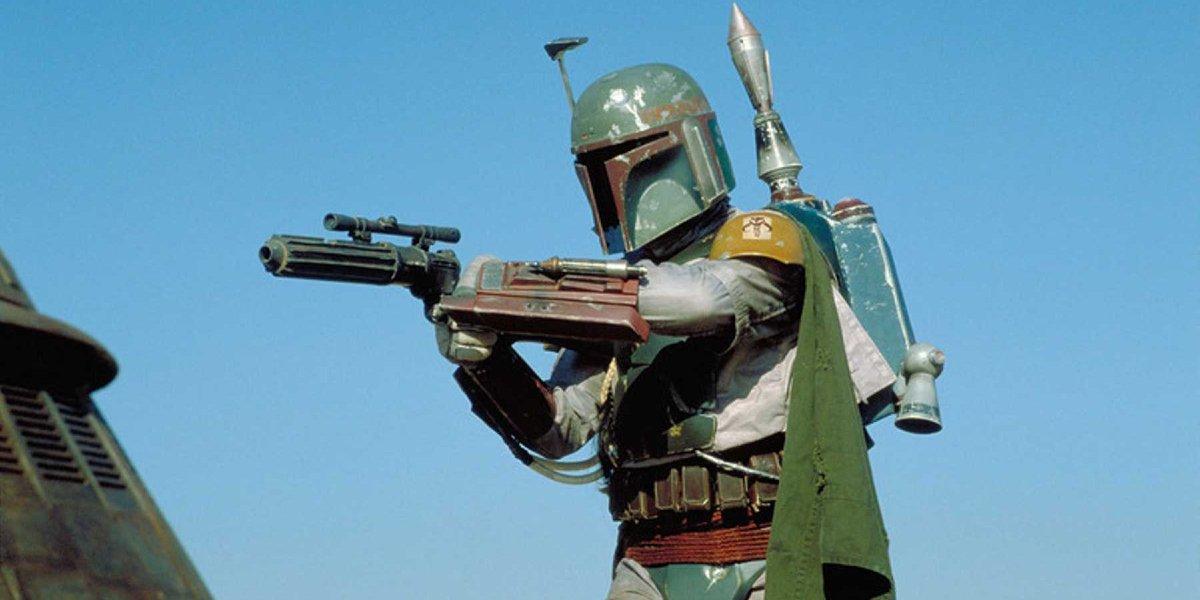 Return of the Jedi Boba Fett aims his gun
