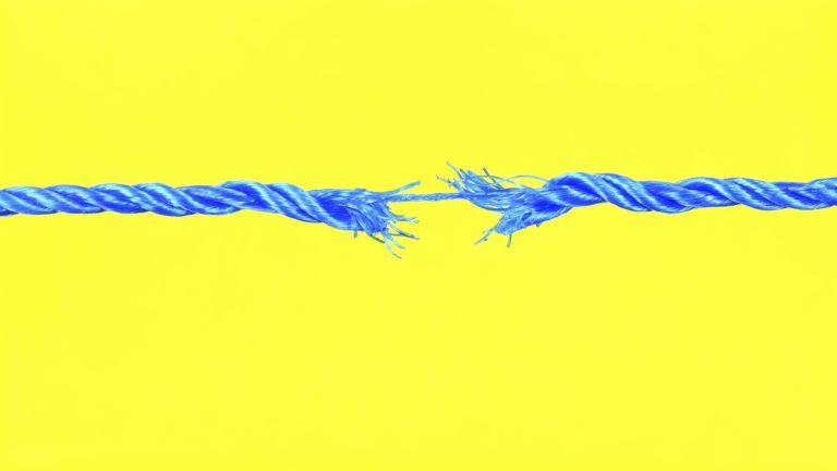 无字符串性别应用程序:蓝色绳子黄色背景