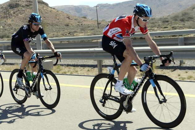 Chris Froome and Bradley Wiggins, Tour of Oman 2013, stage six