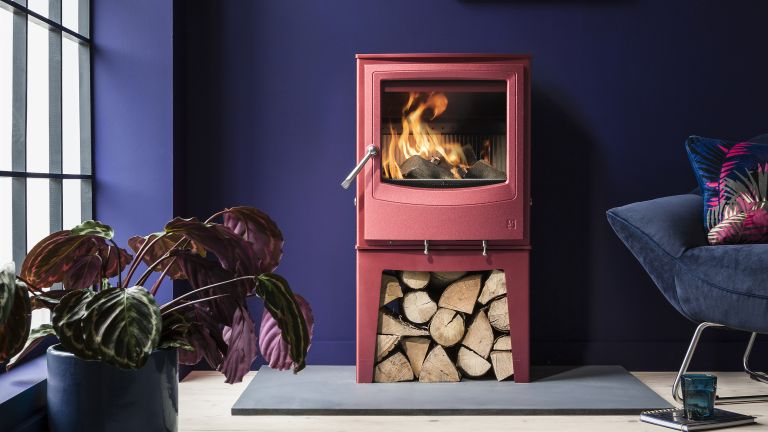 Farringdon Eco stove in living room by Arada