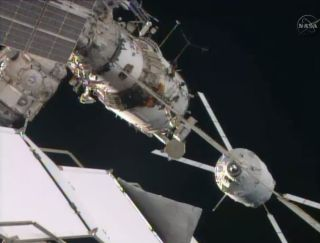 ATV-5 Georges Lemaître, the European Space Agency's fifth and last Automated Transfer Vehicle cargo ship, arrives at the International Space Station on Aug. 12, 2014 to deliver more than 7 tons of supplies. Europe's ATV spacecraft are one of several unman
