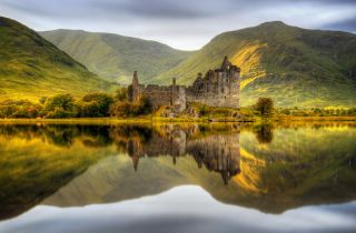 Loch Awe at Sunset in Scotland.