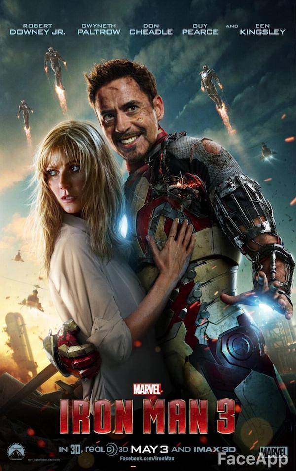 Iron Man 3 FaceApp