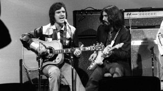 Gary Wright and George Harrison in 1971