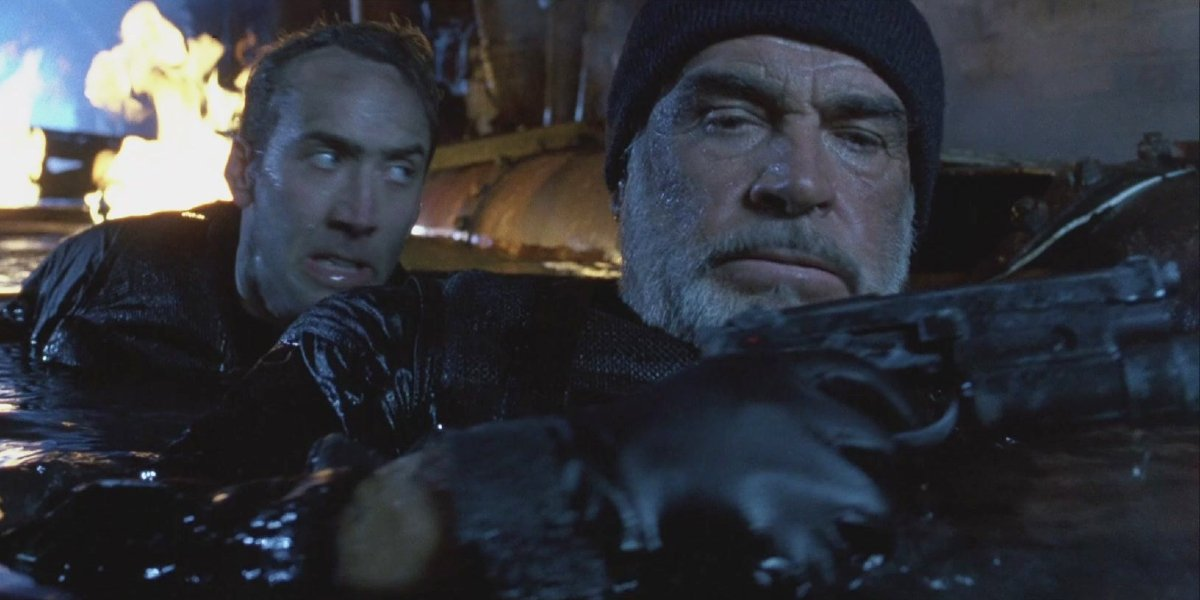 Nicolas Cage and Sean Connery in The Rock