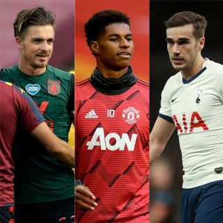 Jack Grealish has received his first England call-up but Marcus Rashford and Harry Winks have withdrawn
