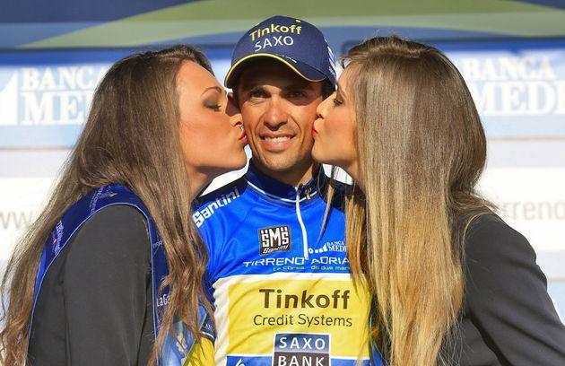 Alberto Contador on Stage 6 of the 2014 Tirreno Adriatico