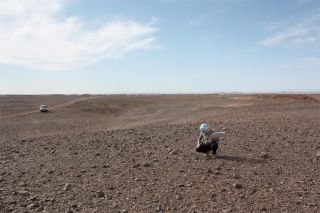 Moroccan desert for meteorite research