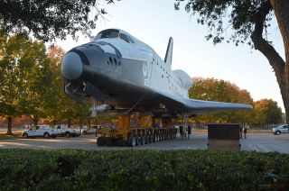 Space Shuttle Independence Moved