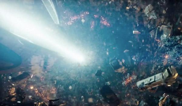 Metropolis being destroyed in Man of Steel