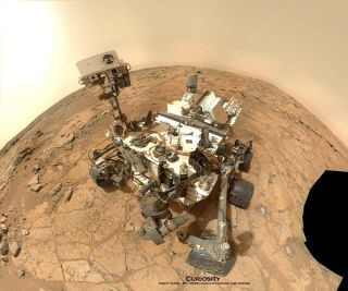 Curiosity Rover Self-Portrait at Drill Site