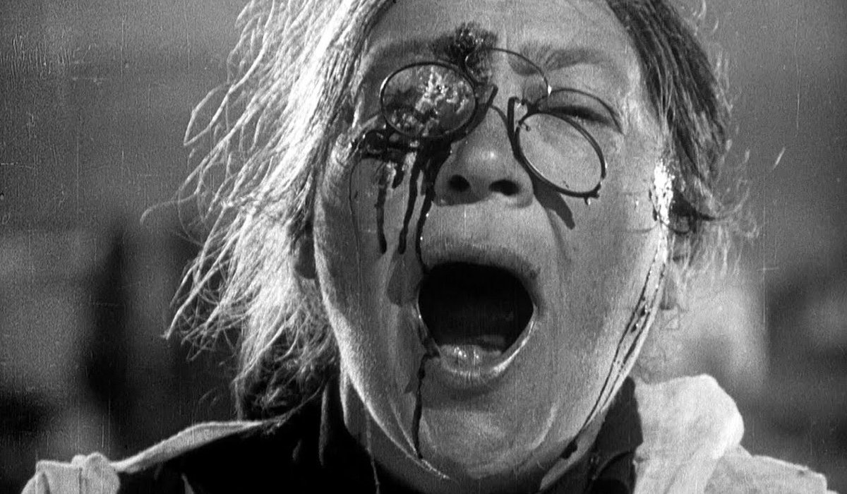 Battleship Potemkin a person's eye is shot out