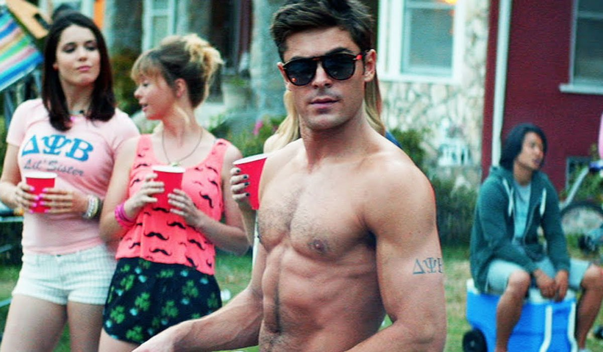 Zac Efron looking real handsome and buff.