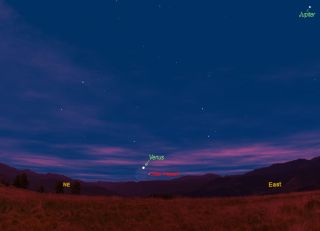 The Moon and Venus, July 30, 2011 Sky Map