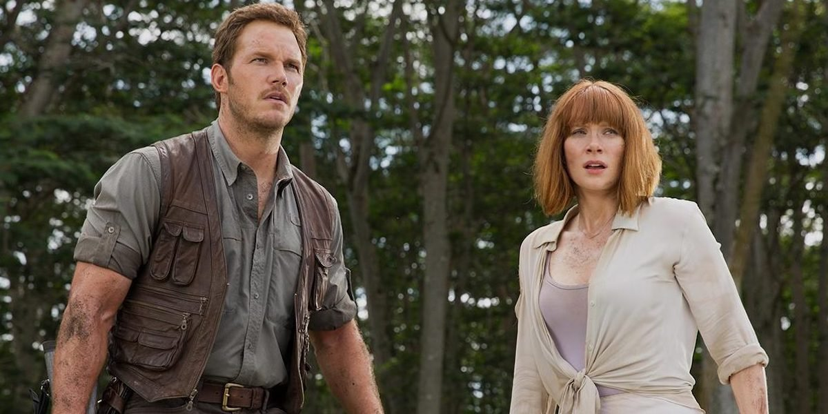 Chris Pratt and Bryce Dallas Howard in Jurassic World: Dominion