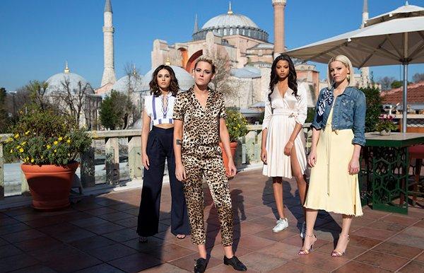 Naomi Scott, Kristen Stewart, Ella Balinska and Elizabeth Banks