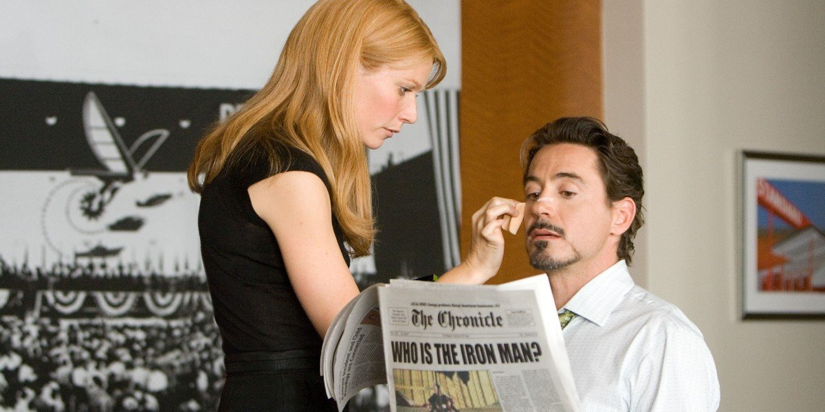 Gwyneth Paltrow, Robert Downey Jr. - Iron Man