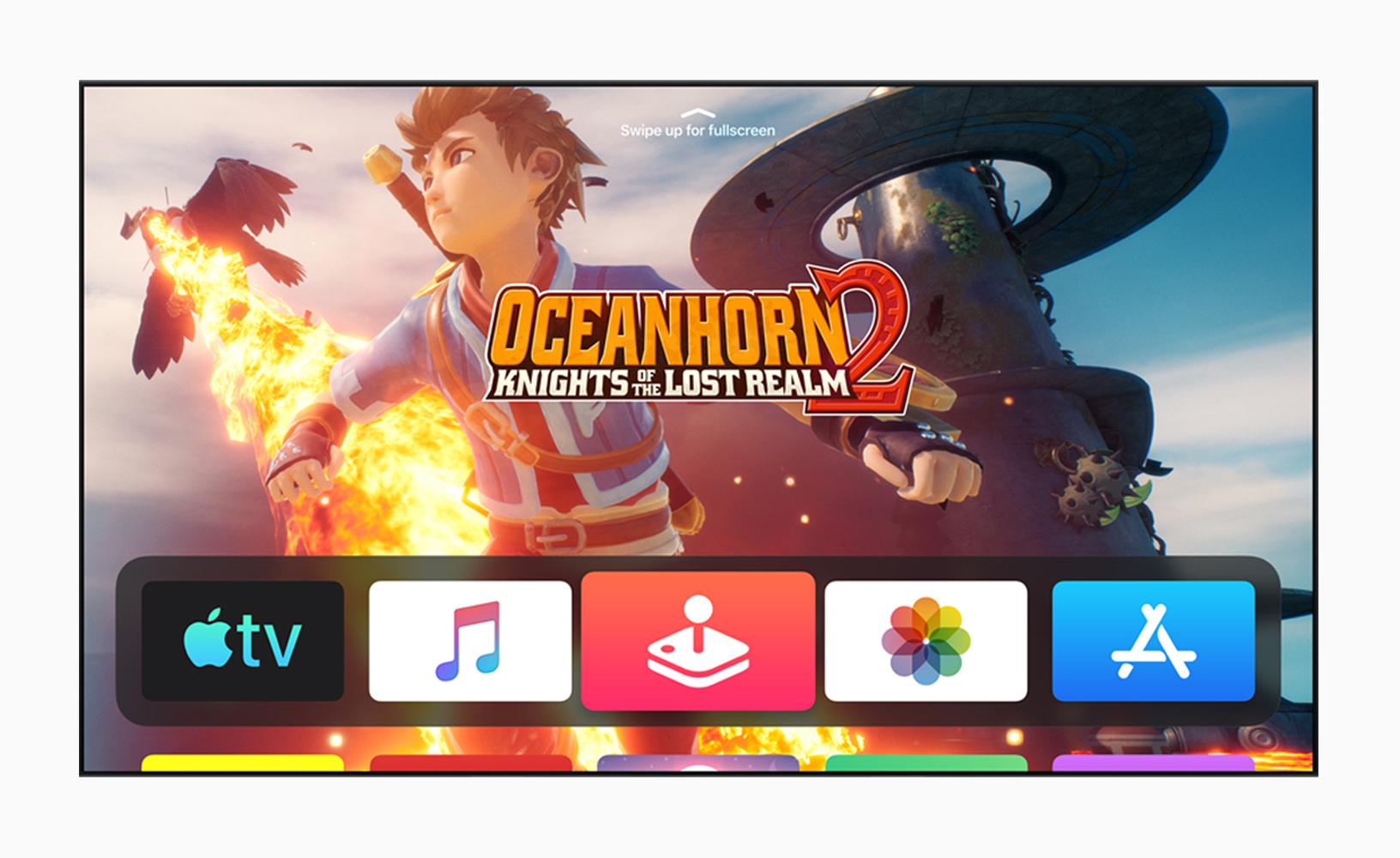 A screenshot of Oceanhorn on tvOS13