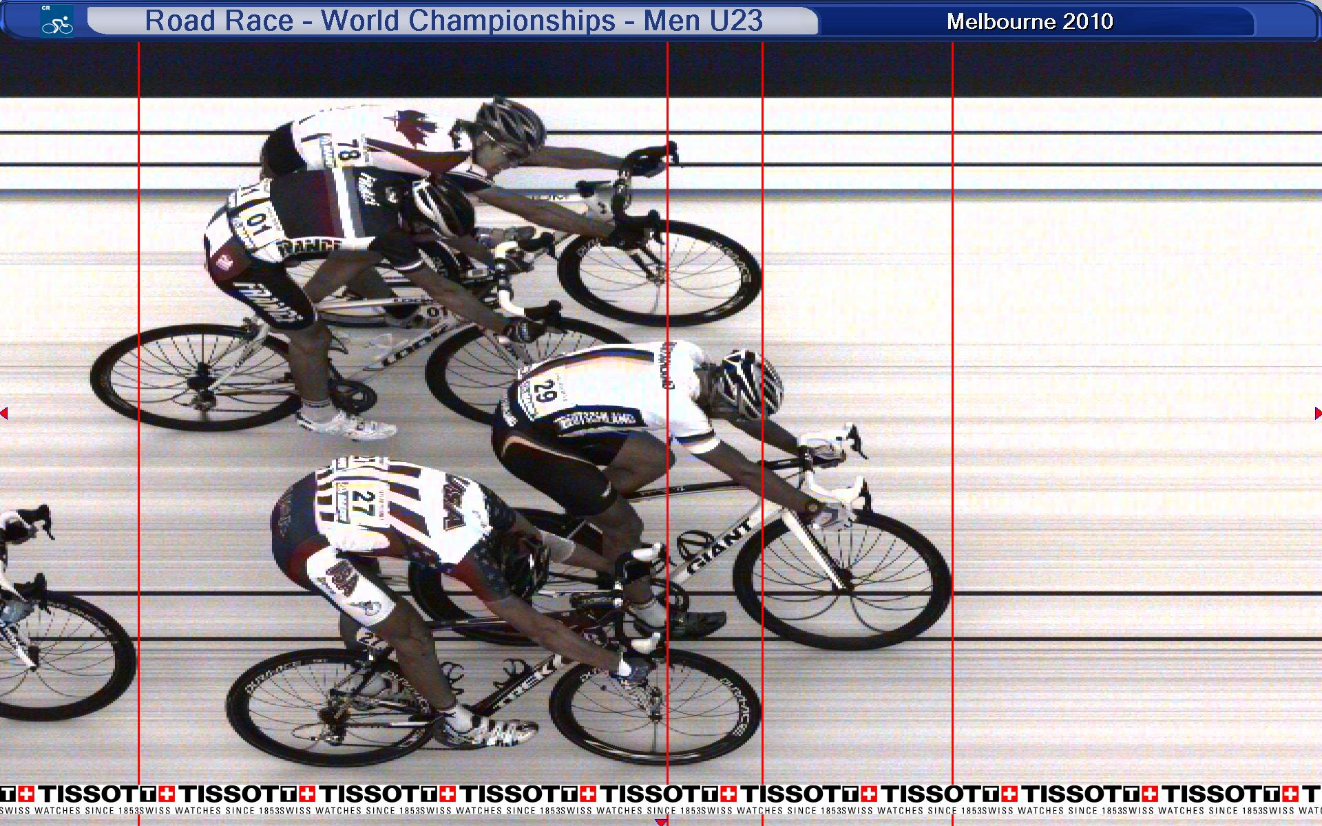 photo finish, under 23 road race, world champs, geelong, australia