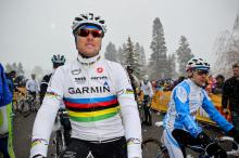 Thor Hushovd (Garmin-Cervelo) didn't seem to mind the chilly start