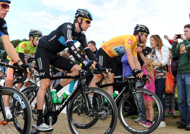 Bradley Wiggins and Mark Cavendish, Tour of Britain 2012, stage five