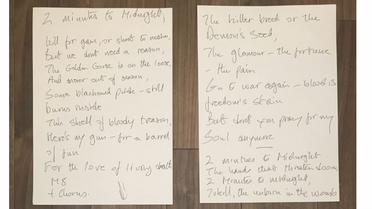 Want to own Bruce Dickinson's handwritten Iron Maiden lyrics, Dave Grohl's snare drum or a guitar signed by Muse? Step this way