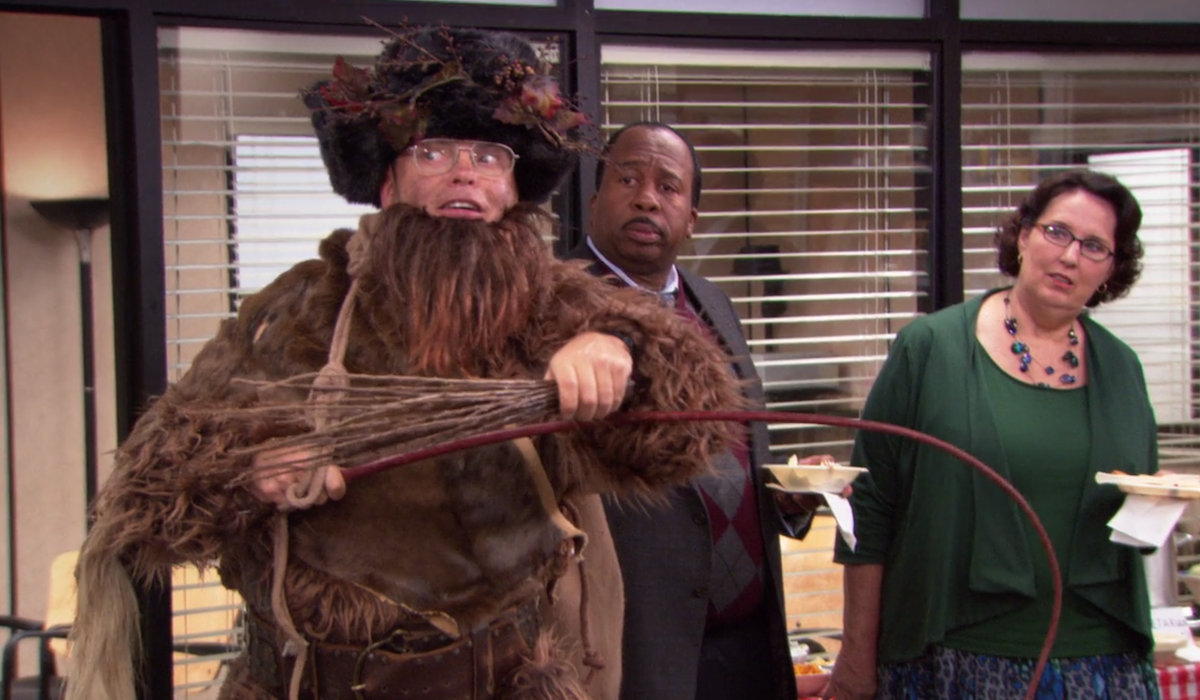 the office dwight as  Belsnickel