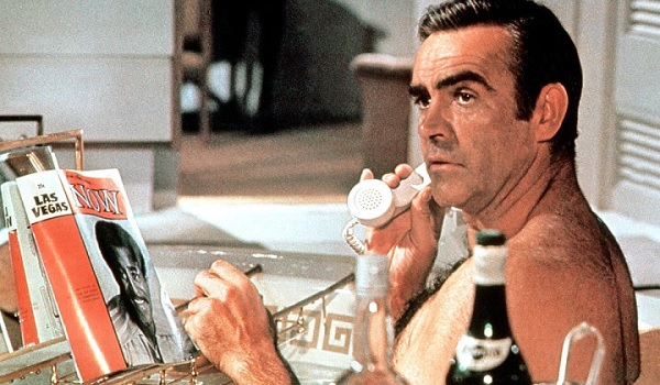 Diamonds Are Forever Sean Connery bathtub reading