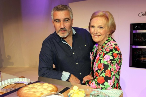 A picture of Paul Hollywood with Mary Berry at the opening of the BBC Good Food Show London