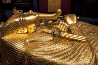 King Tut's sarcophagus was on display at an exhibition in Bratislava, Slovakia, in December 2014.