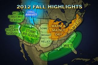 fall weather, United States