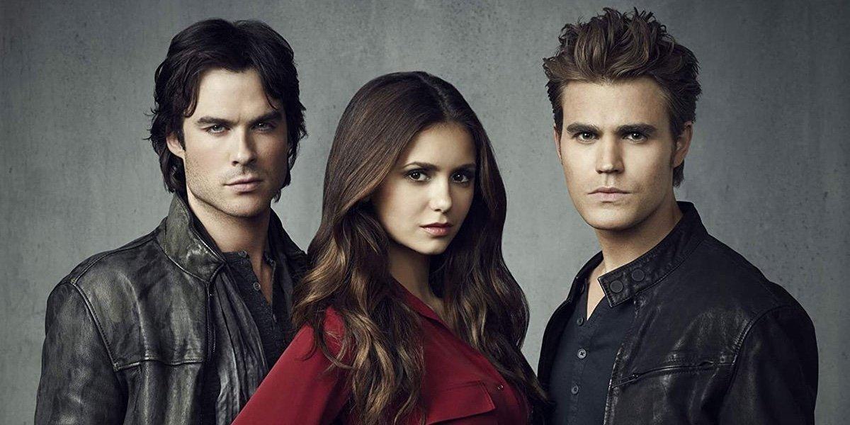 The main cast members of The Vampire Diaries.