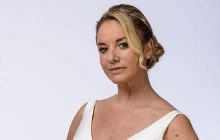 EastEnders Mel Owen in her wedding gown