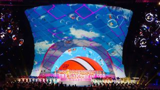 The 2019 FIBA Basketball World Cup tournament kicked off with an opening ceremony featuring onstage visuals created with the Christie Pandoras Box real-time video processing and show control system.
