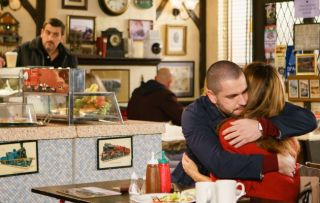 Peter doesn't hesitate to tell Eva that Aidan was all over Maria in the cafe