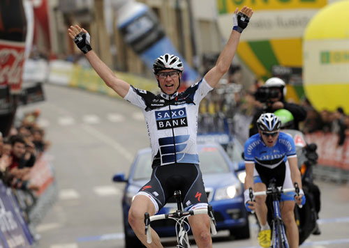 Jens Voigt wins, Tour of Catalonia 2010, stage four